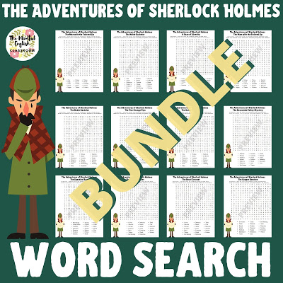 Sherlock Holmes, Lesson, Activities, Fun, Word Search, Puzzles, Printable, Print, Distance Learning, Classroom, word search