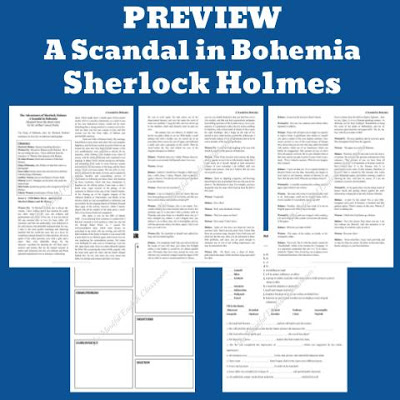 Sherlock Holmes, Readers Theater, Lesson Plans, ELA, Digital Escape Room, Short Story, Short Stories, No Prep, High School, English, Google Classroom