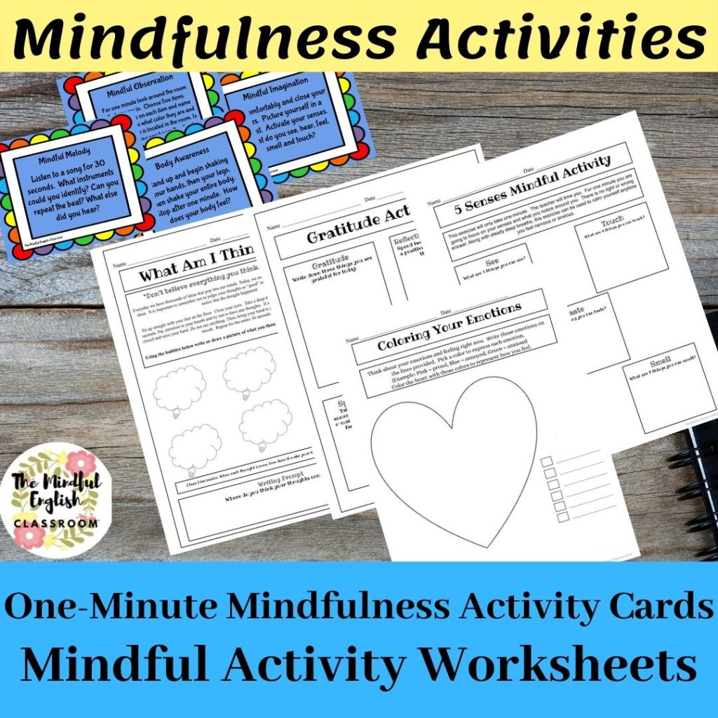 Mindfulness Activities and Worksheets for school, scouts, church groups, yoga class